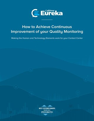 How to Achieve Continuous Improvement of your Quality Monitoring