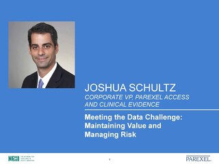 Meeting the Data Challenge:   Maintaining Value and   Managing Risk