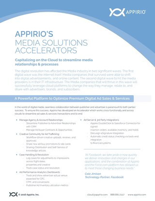 Appirio's Media Solutions Accelerators