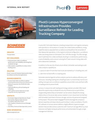 INTERNAL Win Report: Optimizing Video Surveillance Infrastructure for Leading Trucking Company