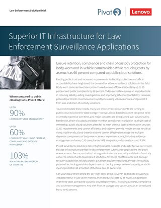 [Solution Brief] Superior IT Infrastructure for Law Enforcement Applications