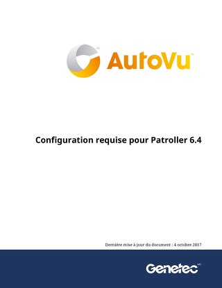 Configuration requise pour Patroller 6.4