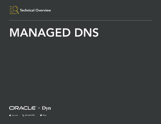 Technical Overview - Managed DNS