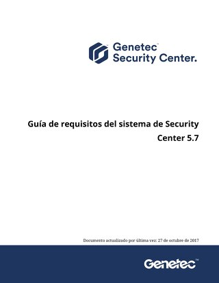 Guía de requisitos del sistema de Security Center 5.7