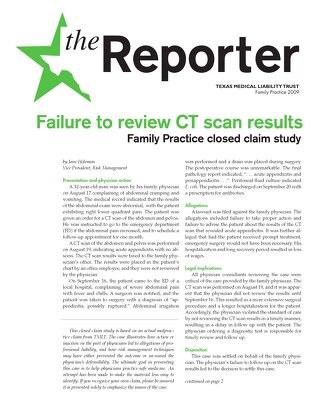 Reporter Family Practice 2009