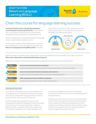 The Rosetta Stone Return on Language Learning Team