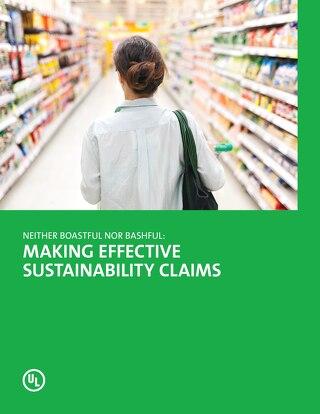 Make effective sustainability claims