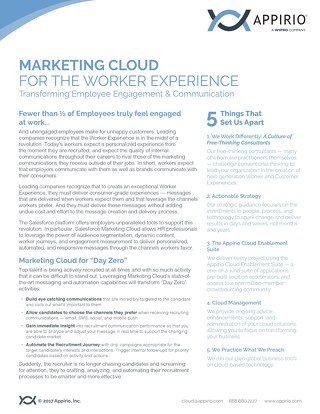 Marketing Cloud for the Worker Experience