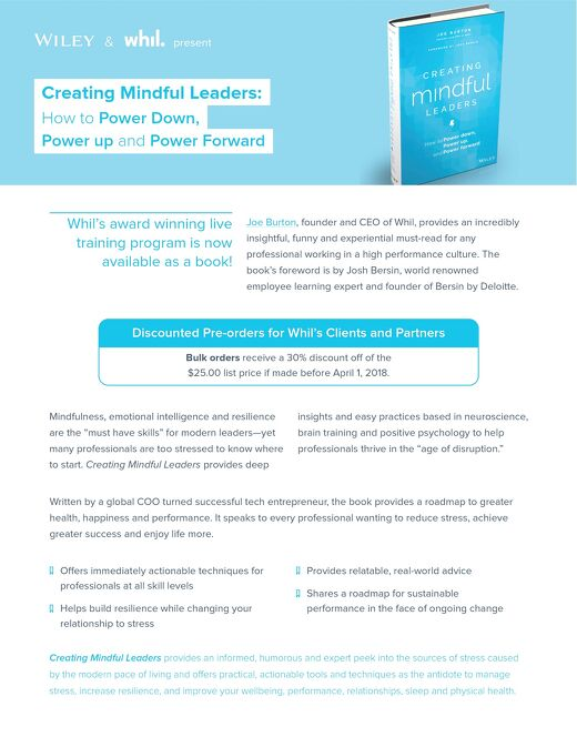 Product Brief: Creating Mindful Leaders Book (Wiley, 2018)