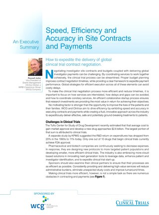An Executive Summary: Speed, Efficiency, and Accuracy in Site Contracts and Payments