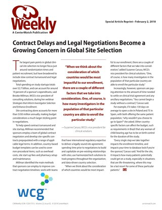 Contract Delays and Legal Negotiations Become a Growing Concern in Global Site Selection