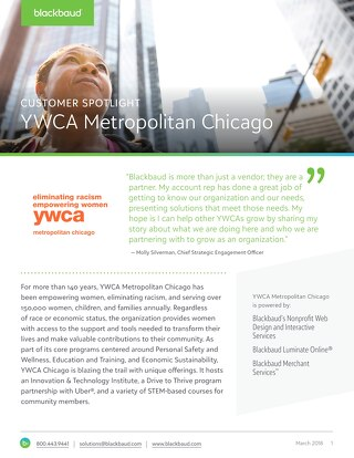 YWCA of Chicago's Website Design