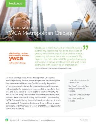 YWCA of Chicago's Website Design