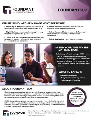 Scholarship Lifecycle Manager Overview