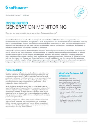 Distributed Generation Monitoring