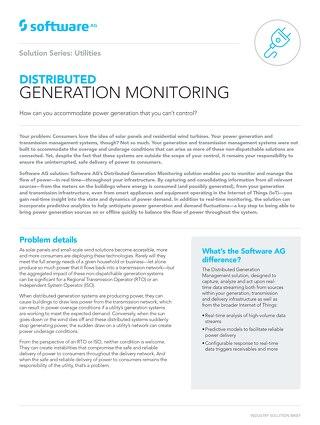 Distributed Generation Monitoring