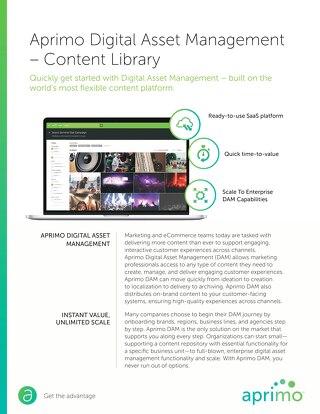 Aprimo Digital Asset Management – Content Library Data Sheet