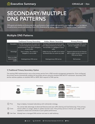 Executive Summary: Secondary and Multiple DNS