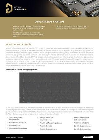 Hoja de datos Verificación de diseños