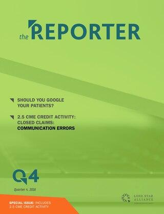 Lone Star Reporter Quarter 4 2016