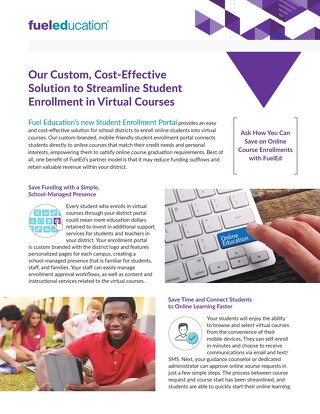 Student Portal Enrollment Flyer