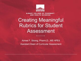 AOT San Francisco — Creating Meaningful Rubrics for Student Assessment