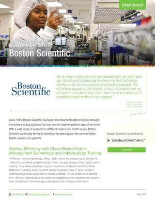 Customer Story: Boston Scientific