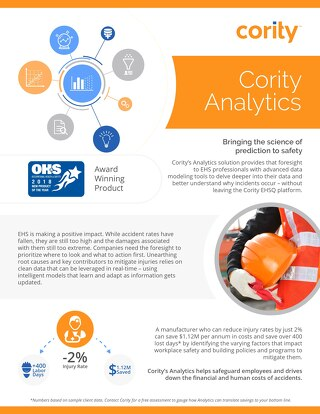 Product Sheet - Cority Analytics