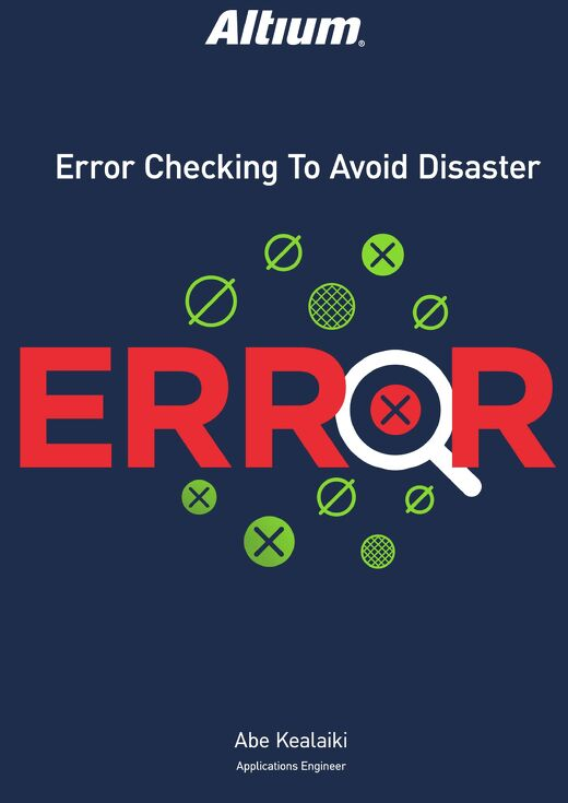 Error Checking to Avoid Disaster