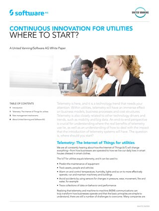 CONTINUOUS INNOVATION FOR UTILITIES WHERE TO START?