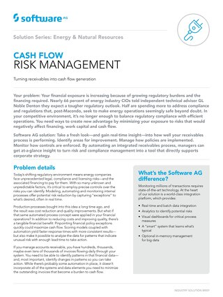 CASH FLOW RISK MANAGEMENT SOLUTION FOR THE ENERGY INDUSTRY