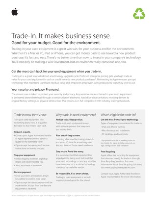 Trade-In. It makes business sense.
