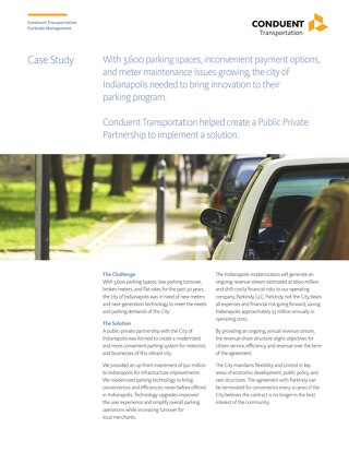 ParkIndy: City of Indianapolis Case Study