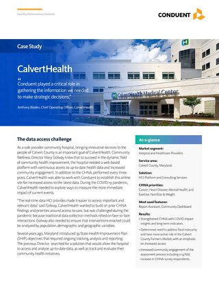 Case Study: Calvert Memorial Hospital