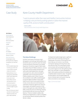 Case Study: Kane County Health Department