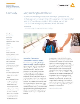 Case Study: Mary Washington Healthcare HCI