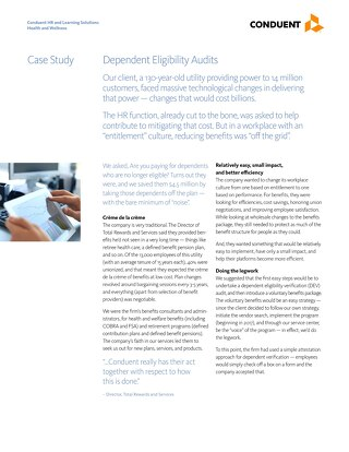 Case Study: Dependent Eligibility Audits