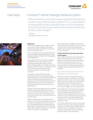 Caltrans Vehicle Passenger Detection System