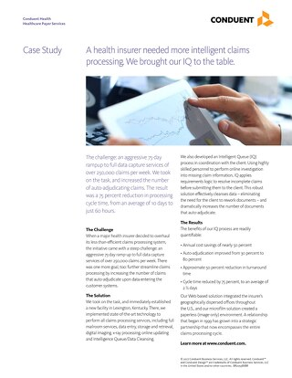 Smarter Claims Processing with Health Insurer IQ