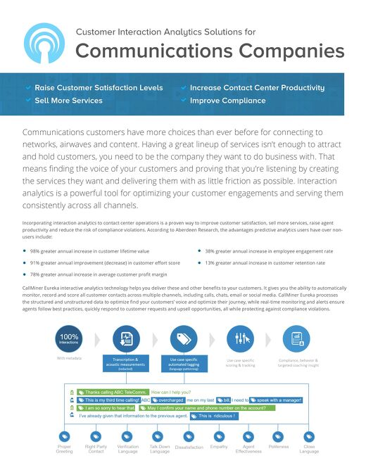 Customer Interaction Analytics for Communications Companies