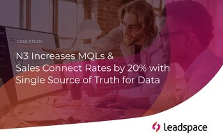 N3 Increases MQLs and Sales Connects Rates by 20%, With a Single Source of Truth for Data