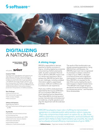 DIGITALIZING A NATIONAL ASSET