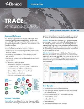 Elemica Trace Datasheet
