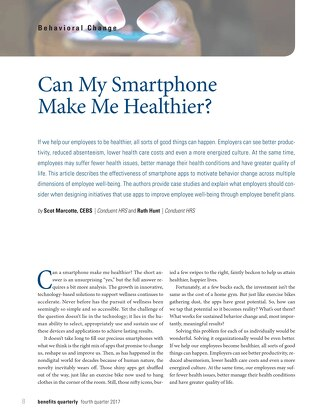 Can my smartphone make me healthier?