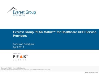 Everest Group PEAK Matrix(TM) for Healthcare CCO Service Providers