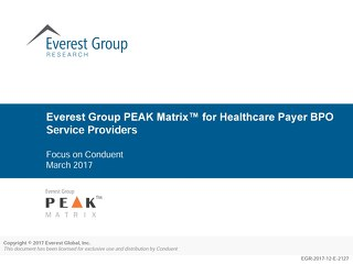 Everest Group positions Conduent as Healthcare BPO Leader