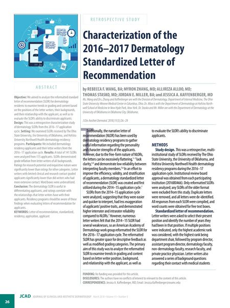 Journal of clinical and aesthetic dermatology mar 2018 contents of this issue spiritdancerdesigns Gallery