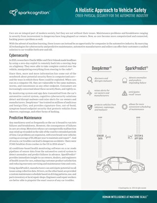 Cyber Physical Security for the Automotive Industry Jan 2018