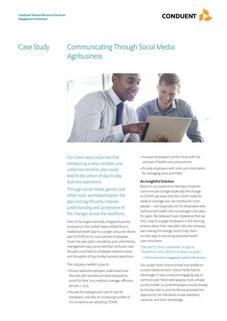 Communicating Through Social Media: Agribusiness