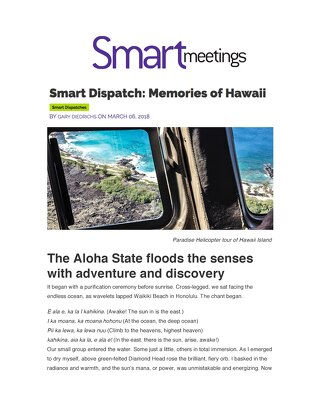 Smart Meetings: Memories of Hawaii